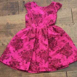 Hot pink floral dress!